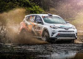toyota rav4 racing toyota rav4 proves durability after olympus rally