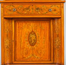 english satinwood bookcase cabinet in the neoclassical style c
