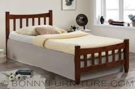 shine wooden bed single twin double queen size bonny furniture