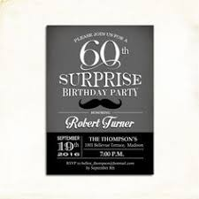 surprise 40th birthday invitation 30th 50th 60th any