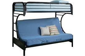 Black Bunk Beds Black Metal Futon Bunkbed Boomerang Futon Bunk The Futon Shop