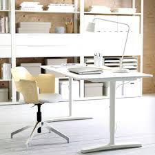 ikea home office glamorous stand desks white steel chic