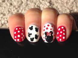 easy minnie mouse nail art beauty intact youtube