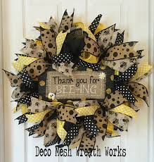 deco paper mesh 262 best bee wreaths images on flower crown summer