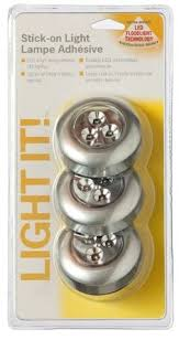 battery operated stick on lights 3 led puck light bulbs pack of 3 units battery powered tap light