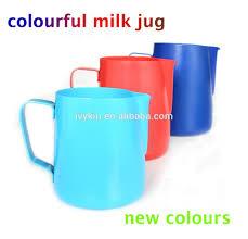 colour milk frothing jug milk pitcher barista tools non stick