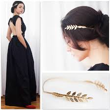 goddess headband estella m olive leaf goddess back headband olive leaf