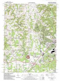 Newark Ohio Map by Newark West Topographic Map Md De Pa Usgs Topo Quad 39075f7