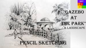 pencil sketching landscape tutorial lessons video beginners
