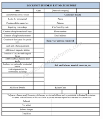 Car Repair Estimate Template by Download Online The Locksmith Business Estimate Template In Ms