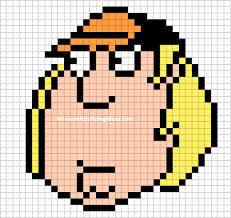 minecraft pixel art templates chris griffin family guy