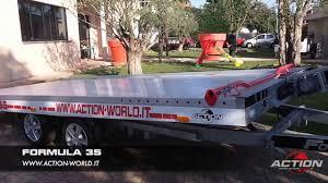 rimorchio porta auto formula 35 rimorchio trasporto auto 3500 kg in alluminio