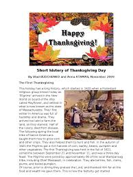history of thanksgiving day thanksgiving foods