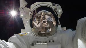 astronauts are reading bedtime stories and videotaping science
