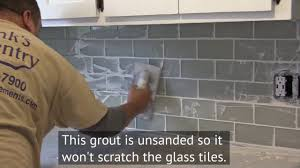 how to install a glass subway tile backsplash in new jersey youtube