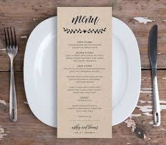 diy wedding menu cards diy wedding reception menu cards daveyard 102b7bf271f2