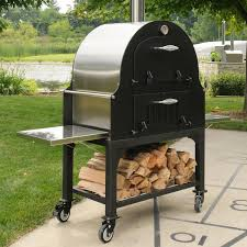 tuscan chef gx b1 34 inch outdoor wood fired pizza oven on cart