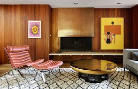 bold design 1950s house interior identifying the ranch as a