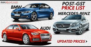 mercedes bmw or audi post gst price list mercedes bmw audi maxabout