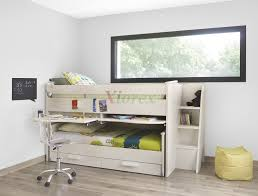 Bunk Bed With Slide Out Bed Cabin Bed Gami Montana Cabin Bed W Slide Out Bed In White Ash