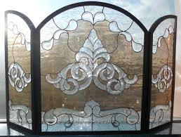 Custom Size Fireplace Screens by Custom Stained Glass Doors Windows Panels Studio One Art Glass