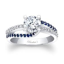 blue and white engagement rings engagement ring with blue sapphires 7677lbsw a classic design