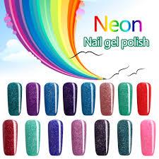 aliexpress com buy 2017 beautiful neon rainbow nails 7ml uv nail