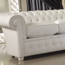 Luxury Italian Premium White Leather Sofa Juliettes Interiors - Chelsea leather sofa