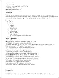 professional financial service representative templates to