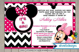 minnie mouse baby shower invitations amusing diy minnie mouse ba shower invitations 30 for ba custom