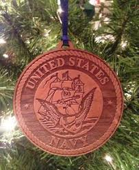 quilted us navy christmas ornament blue gold red prints military