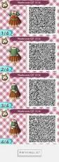 animal crossing new leaf qr codes cute blue dress qr