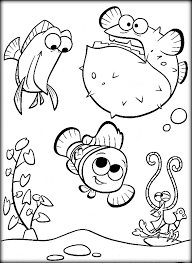 Squirt Finding Nemo Coloring Pages Printable Color Zini Nemo Color Pages