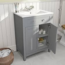 Bathroom Vanity Units Online by The Bath Co Camberley Grey Vanity Unit With Basin 600mm