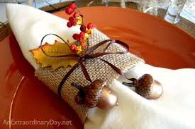 thanksgiving tablescape creatively using woodland elements an