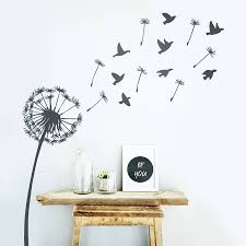 dandelion wall sticker by oakdene designs notonthehighstreet com wall stickers