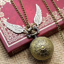 ladies pocket watch necklace images Golden pocket watch necklace jpg