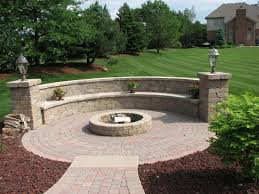 Landscape Ideas For Backyard by Inspiration For Backyard Fire Pit Designs Round Fire Pit Paver