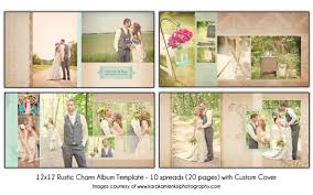 12x12 wedding album rustic charm 12x12 wedding album template 10 spread