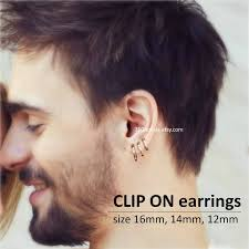 guys earrings mens clip on hoop earrings relucent hoop earrings
