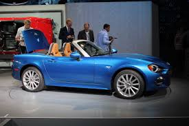 fiat roadster 2015 la auto show 2017 fiat 124 spider drops top in la