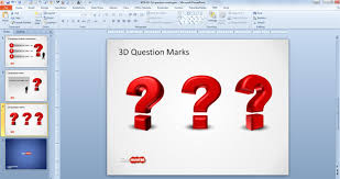 free 3d question mark template for powerpoint free powerpoint