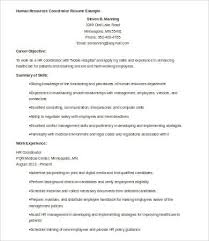 Hr Coordinator Sample Resume by Hr Resumes 9 Free Word Pdf Documents Download Free U0026 Premium