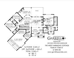 ranch floor plan west harmony cottage house plan house plans by garrell