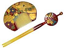 antique hair combs japanese antiques and collections of hair accessories and