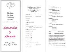 sles of wedding programs for ceremony wedding programs exles on wedding programs sle front wedding