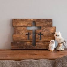 home decor crosses wooden cross wall decor three crosses decor home decor for the