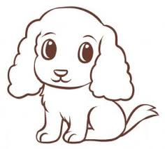 coloring pages nice easy drawings dogs coloring pages easy