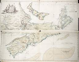 Map Of Nova Scotia Map Of Nova Scotia Or Acadia With The Islands Of Cape Breton And