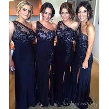navy blue bridesmaid dresses new style floor length navy blue bridesmaid dresses one shoulder